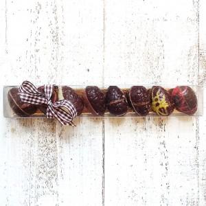 Chocolade paaseitjes de luxe puur kleinverpakking
