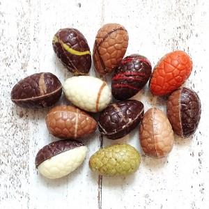 Chocolade paaseitjes gemengd