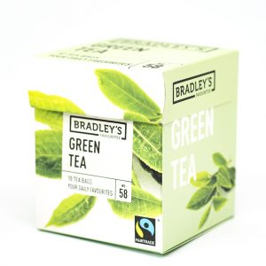 Groene thee verpakt